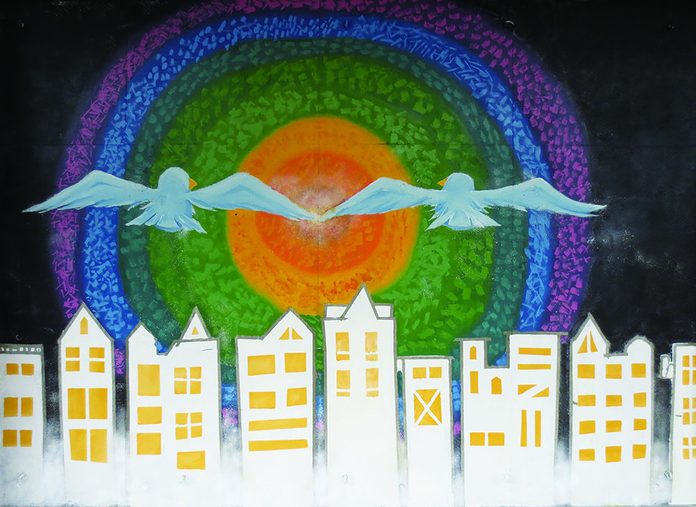2018年 入学生 美術Ⅰ 壁画